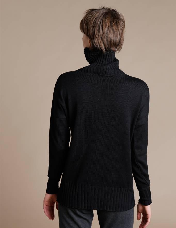Alef Alef | אלף אלף - בגדי מעצבים | סוודר Ararat שחור