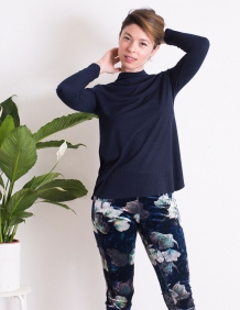 Alef Alef | אלף אלף - בגדי מעצבים | מכנסי Shoshana קטיפה פרחים