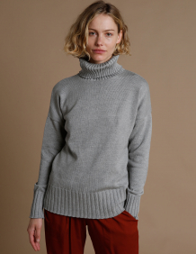 Alef Alef | אלף אלף - בגדי מעצבים | סוודר Ararat אפור בהיר
