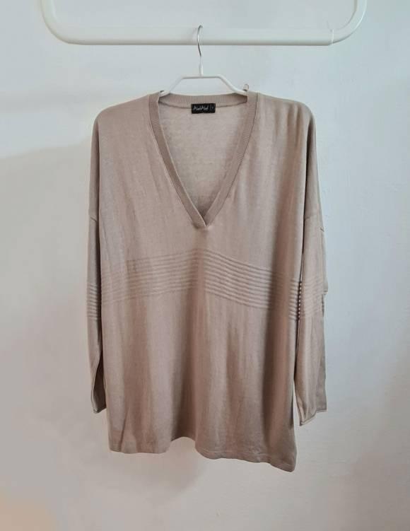 Alef Alef | אלף אלף - בגדי מעצבים | סוודר Dean מוקה