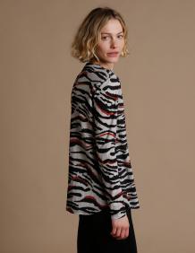 Alef Alef | אלף אלף - בגדי מעצבים | חולצת Saana | זברה