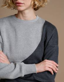 Alef Alef | אלף אלף - בגדי מעצבים | סוודר Everest אפור/ אפור כהה