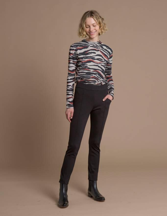Alef Alef | אלף אלף - בגדי מעצבים | מכנסי Tate שחור