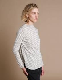 Alef Alef | אלף אלף - בגדי מעצבים | חולצת Susan | אפור פס דק