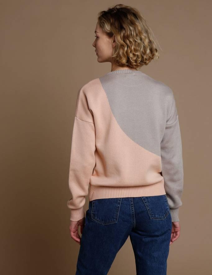 Alef Alef | אלף אלף - בגדי מעצבים | סוודר Everest פודרה/ בז'