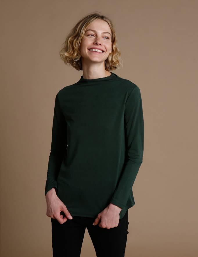Alef Alef | אלף אלף - בגדי מעצבים | חולצת Saana | ירוק בקבוק
