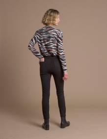Alef Alef   אלף אלף - בגדי מעצבים   מכנסי Tate שחור