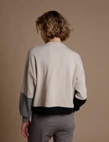 Alef Alef | אלף אלף - בגדי מעצבים | סווטשירט El Capitan אבן/אפור/שחור