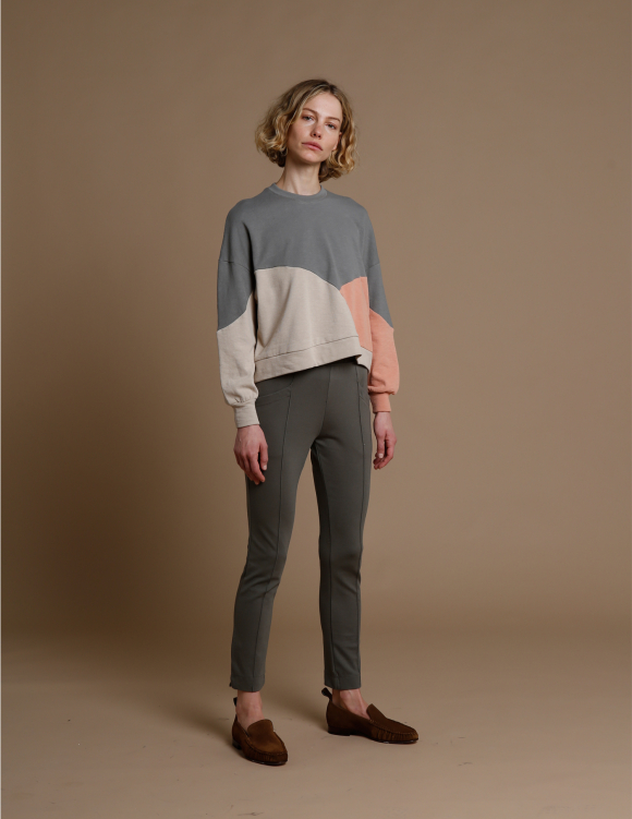 Alef Alef | אלף אלף - בגדי מעצבים | מכנסי Tate ירוק אקליפטוס