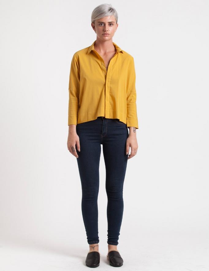 Alef Alef | אלף אלף - בגדי מעצבים | חולצת Alison חרדל