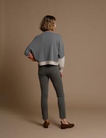 Alef Alef   אלף אלף - בגדי מעצבים   מכנסי Tate ירוק אקליפטוס