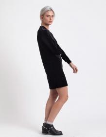 Alef Alef | אלף אלף - בגדי מעצבים | שמלת בקי שחור קטיפה