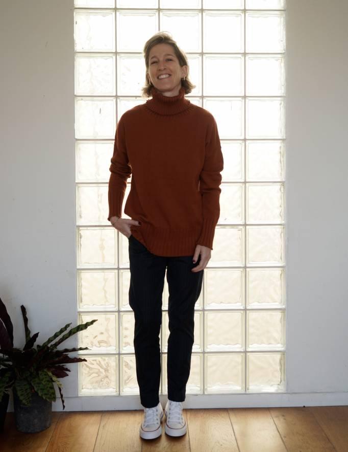 Alef Alef   אלף אלף - בגדי מעצבים   סוודר Ararat חמרה