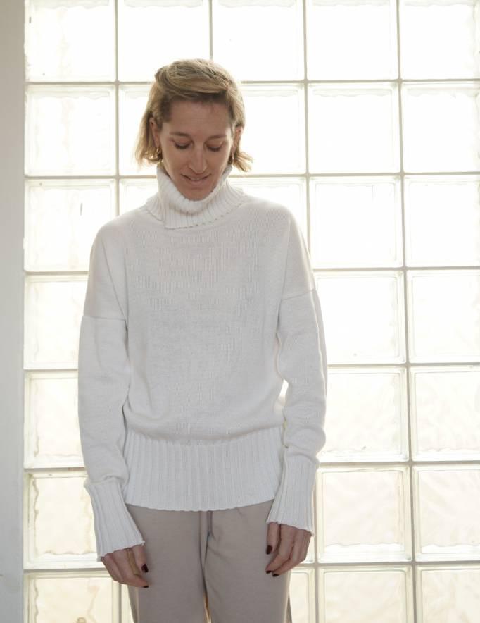 Alef Alef   אלף אלף - בגדי מעצבים   סוודר Ararat שמנת
