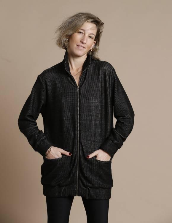 Alef Alef | אלף אלף - בגדי מעצבים | עליונית PARRY שחור ריב
