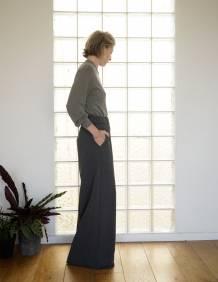 Alef Alef | אלף אלף - בגדי מעצבים | מכנסי Roy אפור כהה