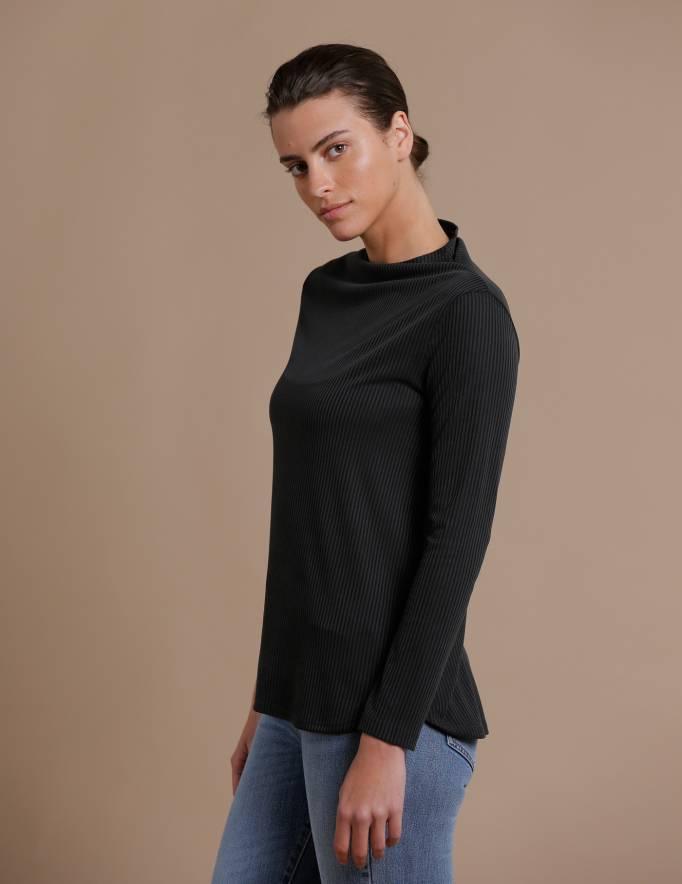 Alef Alef | אלף אלף - בגדי מעצבים | חולצת Saana | פחם