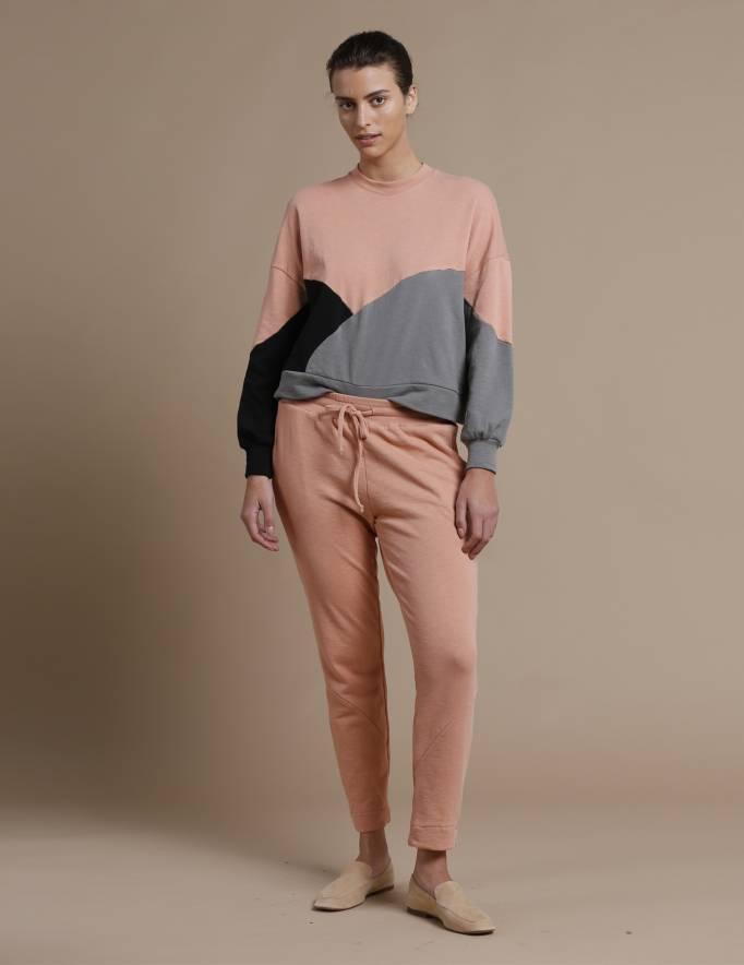 Alef Alef   אלף אלף - בגדי מעצבים   מכנסי KUNA אפרסק