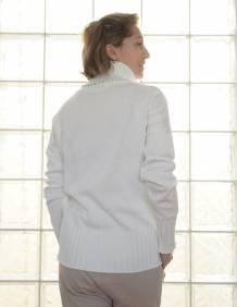 Alef Alef | אלף אלף - בגדי מעצבים | סוודר Ararat שמנת