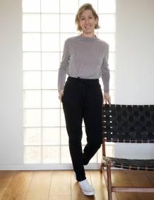 Alef Alef | אלף אלף - בגדי מעצבים | מכנסי KUNA שחור