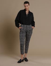 Alef Alef | אלף אלף - בגדי מעצבים | מכנסי Rocky הדפס חברבורות