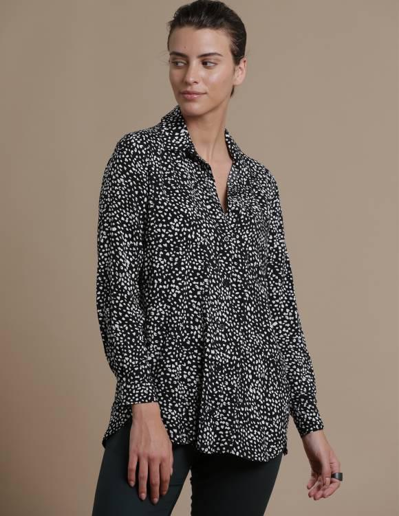 Alef Alef | אלף אלף - בגדי מעצבים | חולצת Tavor לבן נקודות