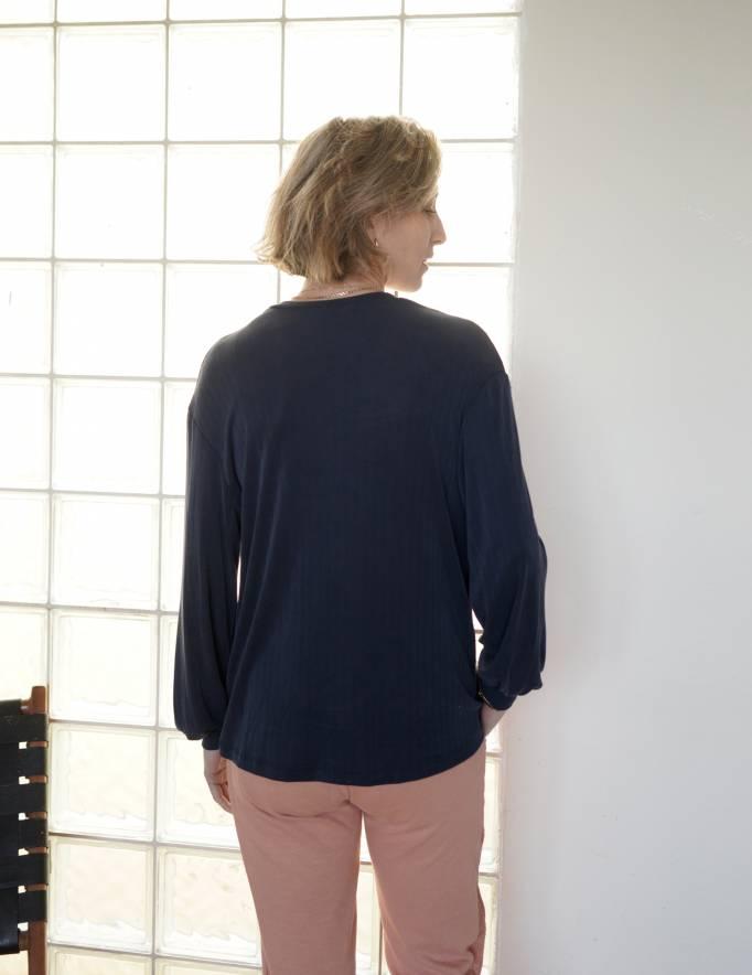 Alef Alef | אלף אלף - בגדי מעצבים | חולצת NAPOLEON נייבי