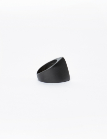 Alef Alef | אלף אלף - בגדי מעצבים | טבעת דרופ XL שחור