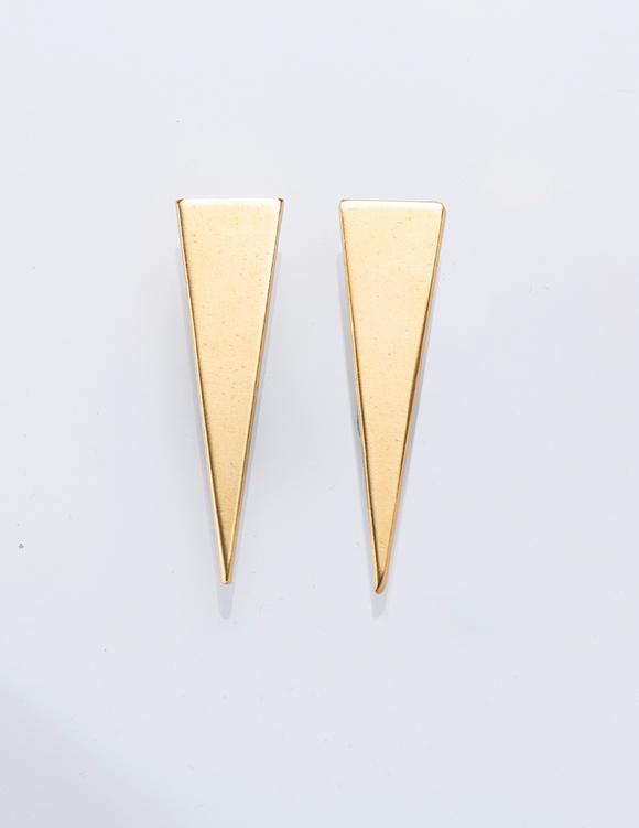 Alef Alef | אלף אלף - בגדי מעצבים | עגילי משולש FEMIS   זהב קצר