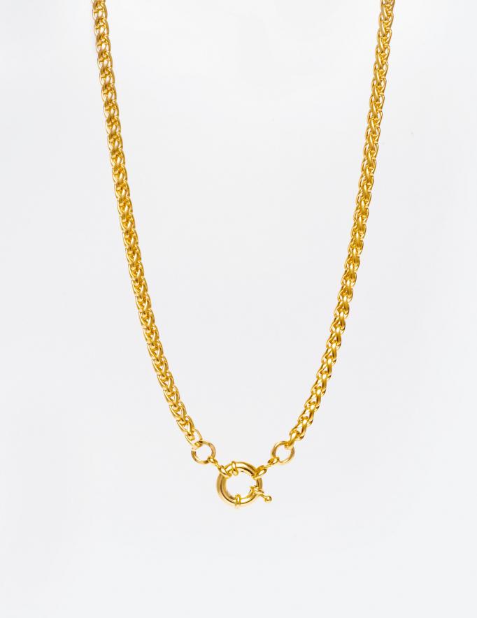Alef Alef   אלף אלף - בגדי מעצבים   שרשרת TRENZA זהב