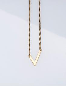 Alef Alef | אלף אלף - בגדי מעצבים | שרשרת VAL וי זהב
