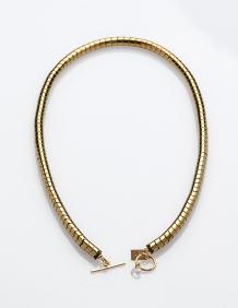 Alef Alef | אלף אלף - בגדי מעצבים | שרשרת ZIGZA זהב מאבני המטייט וסברובסקי