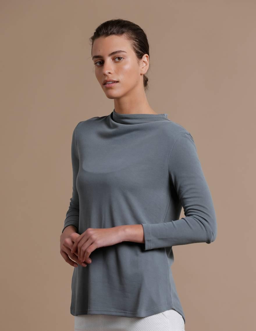 Alef Alef | אלף אלף - בגדי מעצבים | חולצת Saana | אקליפטוס
