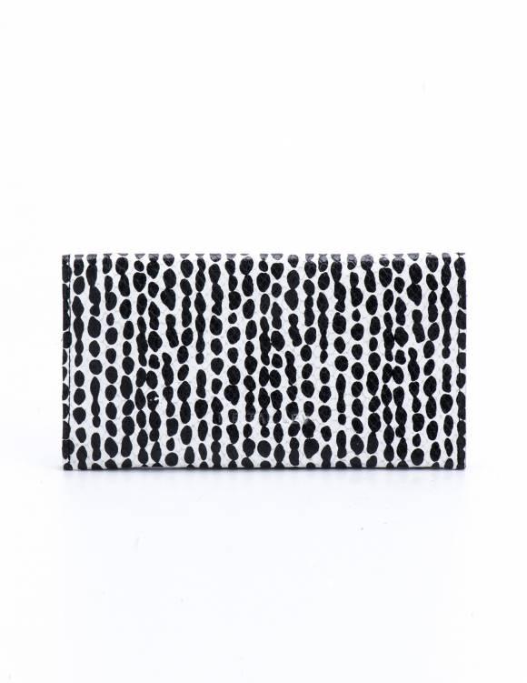 Alef Alef | אלף אלף - בגדי מעצבים | ארנק הדפס שחור לבן