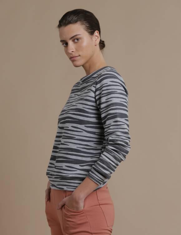 Alef Alef | אלף אלף - בגדי מעצבים | סווטשירט TERA זברה