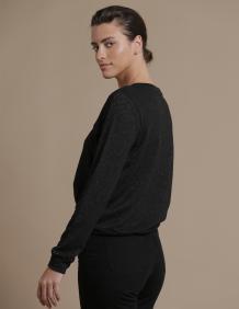 Alef Alef | אלף אלף - בגדי מעצבים | סווטשירט TERA שחור נצנץ