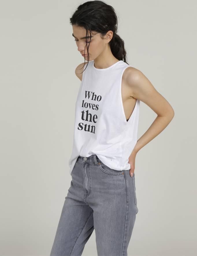 Alef Alef   אלף אלף - בגדי מעצבים   גופית SOL לבן