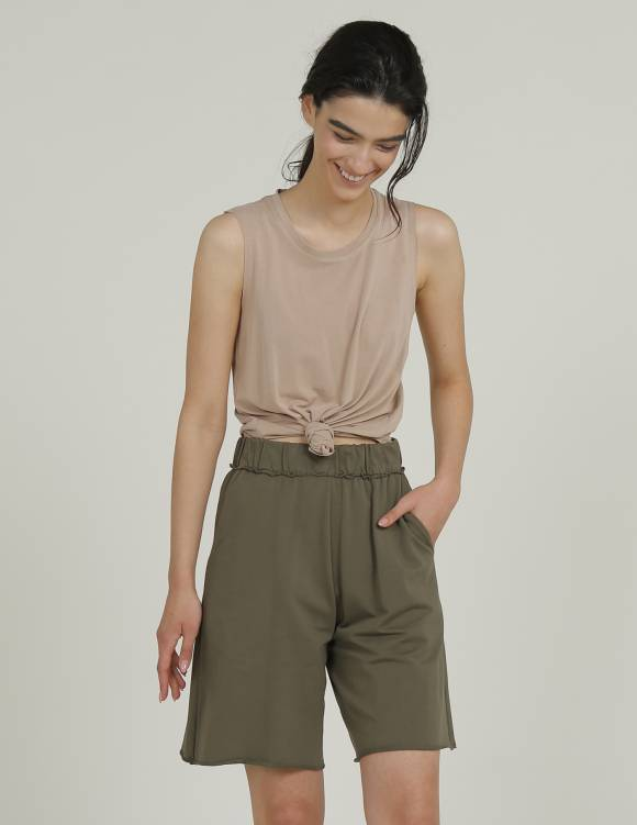Alef Alef   אלף אלף - בגדי מעצבים   מכנסי PALMA ירוק זית