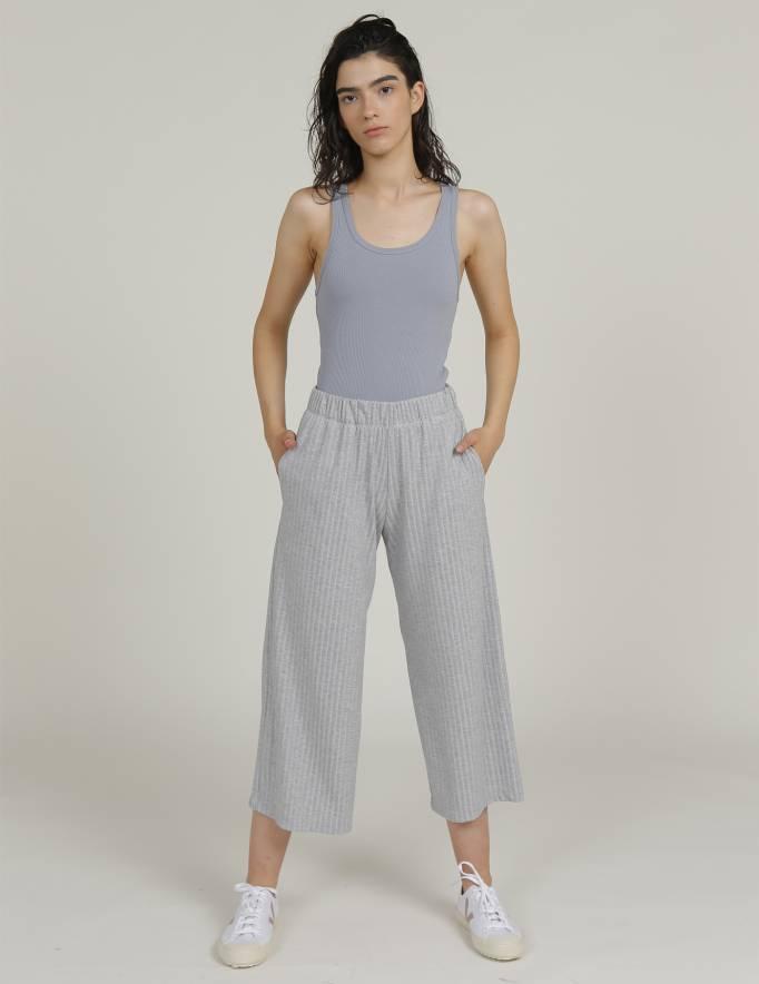 Alef Alef | אלף אלף - בגדי מעצבים | מכנסי KAI אפור מלאנז'