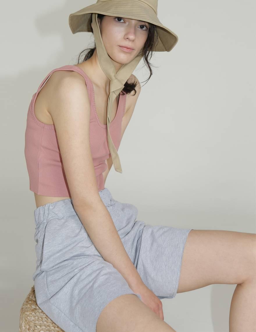 Alef Alef | אלף אלף - בגדי מעצבים | מכנסי PALMA אפור מלאנז'