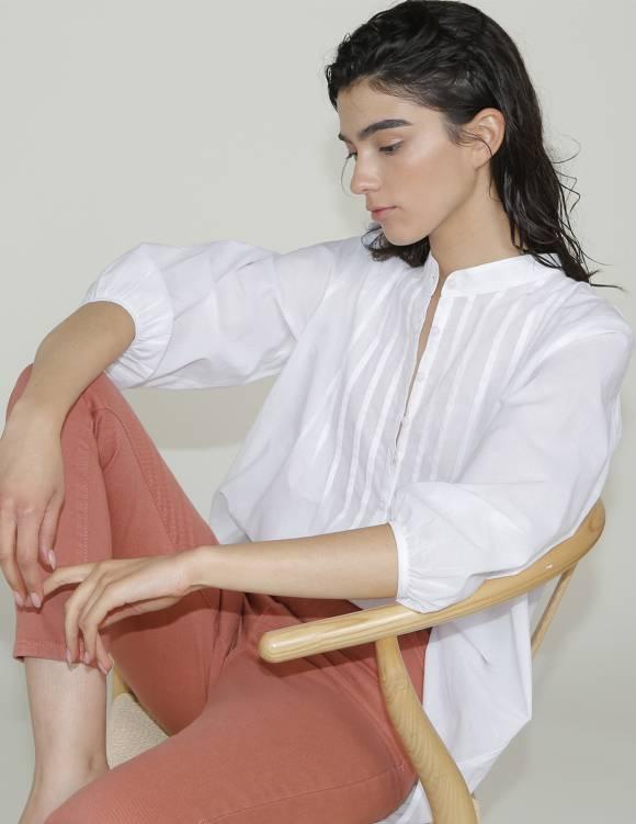 Alef Alef   אלף אלף - בגדי מעצבים   גלביה ILI לבן