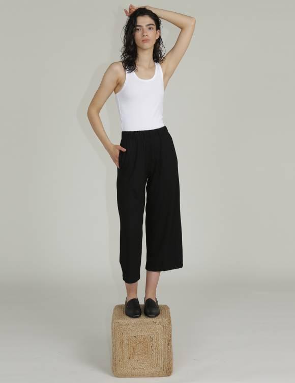 Alef Alef | אלף אלף - בגדי מעצבים | מכנסי KAI שחור