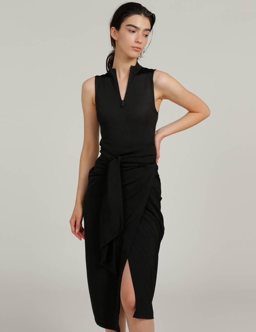 Alef Alef | אלף אלף - בגדי מעצבים | חצאית TAIYHO שחור
