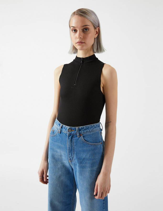 Alef Alef | אלף אלף - בגדי מעצבים | Silvana Bodysuit | Black