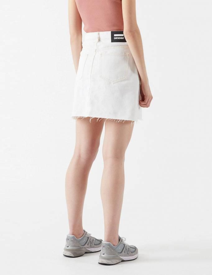 Alef Alef | אלף אלף - בגדי מעצבים | Echo Denim Skirt | Light ecru