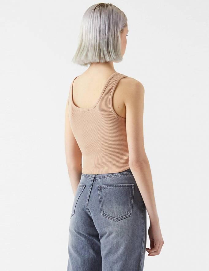 Alef Alef | אלף אלף - בגדי מעצבים | Maxida Top | Warm clay