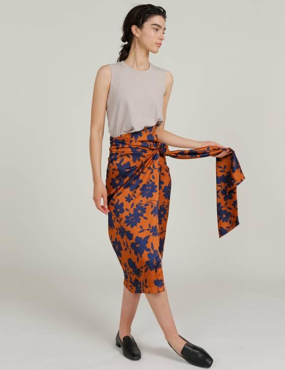 Alef Alef | אלף אלף - בגדי מעצבים | חצאית THIYHO פרחים