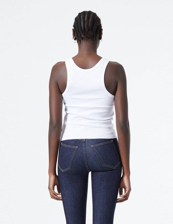 Alef Alef   אלף אלף - בגדי מעצבים   Demi Top   White