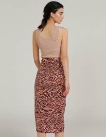 Alef Alef | אלף אלף - בגדי מעצבים | חצאית TAIYHO מנומר