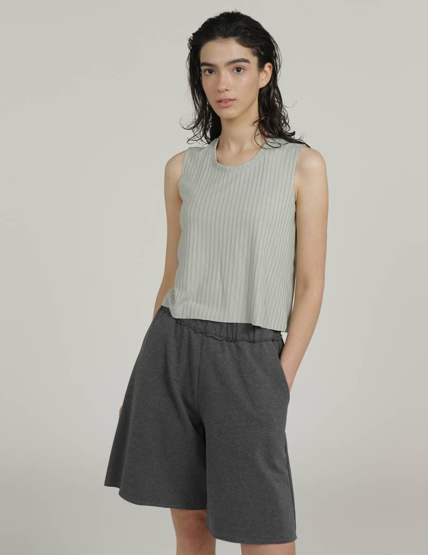 Alef Alef | אלף אלף - בגדי מעצבים | מכנסי PALMA אפור כהה